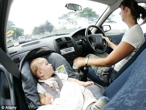 ανάποδο κάθισμα στη θέση του συνοδηγού