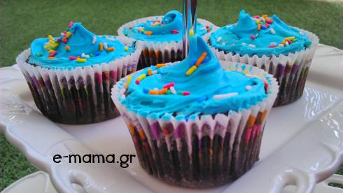 πάρτυ με θέμα παπάκια cupcakes