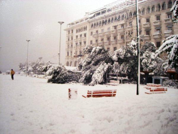 Χιονιάς Θεσσαλονίκη 1988