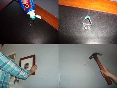 κόλπο για να βάλεις την κορνίζα στον τοίχο