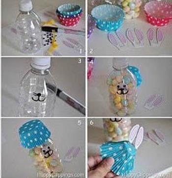DIY: Πασχαλινά λαγουδάκια από μπουκάλι