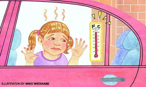 Μην αφήνετε ποτέ το παιδί μόνο του στο αυτοκίνητο