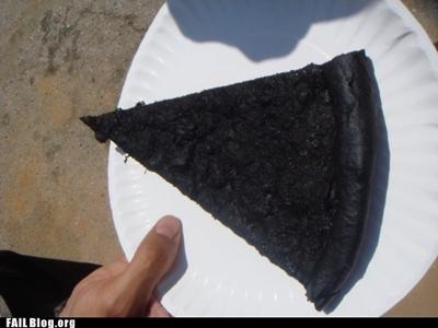 burned pizza