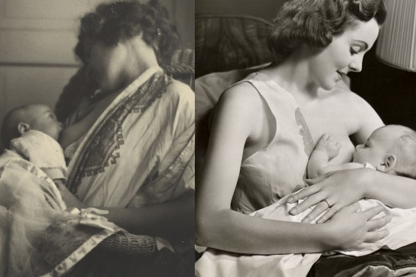 25 historical breastfeeding photos where mothers are not covered