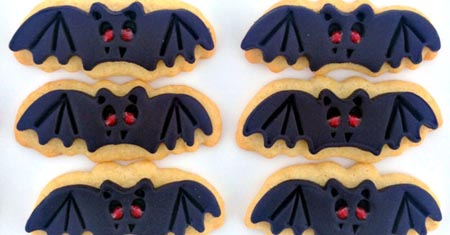 halloween party μπισκότα νυχτερίδες
