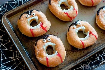 halloween party dracula donuts