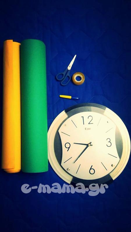 Τα παιδιά μαθαίνουν την ώρα με μια απλή κατασκευή - ρολόι 3