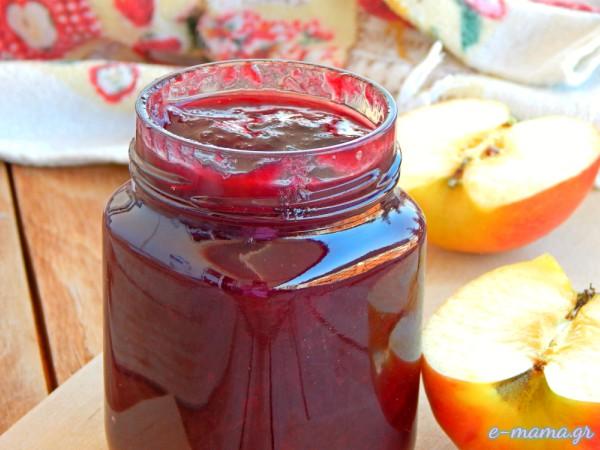 Μαρμελάδα βανίλια με μήλο και καστανή ζάχαρη