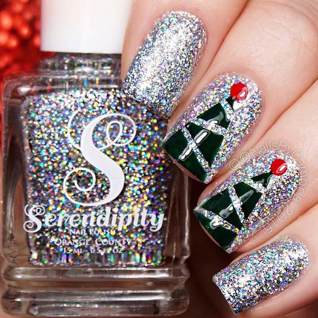 Ιδέες για γιορτινά χριστουγεννιάτικα νύχια