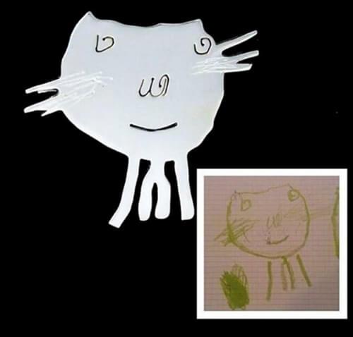 Ζωγραφιές παιδιών που μετατρέπονται σε κόσμημα