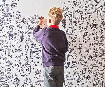 Το αγόρι που το απέτρεπαν να ζωγραφίζει στο σχολείο, ζωγράφισε επί πληρωμή εστιατόριο