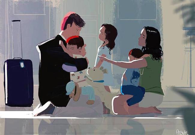 Ευλογία είναι να επιστρέφεις κάθε μέρα σπίτι σου, στα παιδιά σου, στον άνθρωπο σου