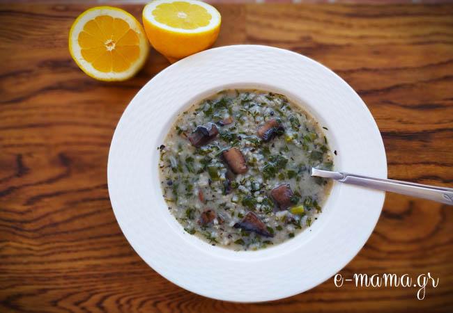 Μαγειρίτσα με μανιτάρια – Πεντανόστιμη Μανιταρίτσα!