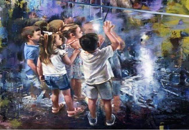 Ο πίνακας που συγκινεί: Τα εγγόνια χαιρετούν όσους έφυγαν χωρίς αντίο