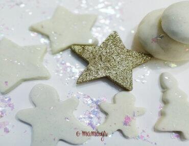 Χριστουγεννιάτικη λευκή πλαστελίνη σαν χιόνι