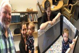 Καθηγητής έβαλε κούνια στο γραφείο του για το μωρό φοιτήτριας του για να τη βοηθήσει