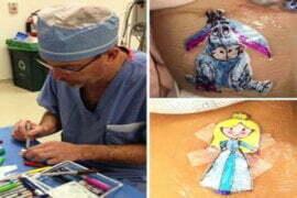 Ο χειρουργός που σχεδιάζει στους επιδέσμους των παιδιών για να μην φοβούνται