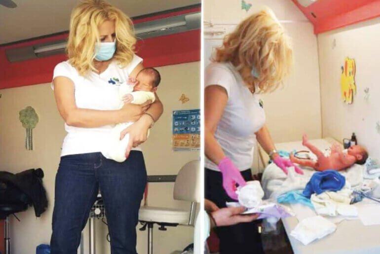 Το πρώτο μωρό που εξετάστηκε στο Αρκαλοχώρι Κρήτης μετά το σεισμό